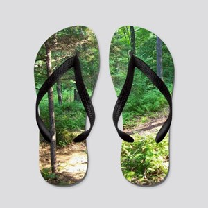 Deep Forest Scenery Flip Flops